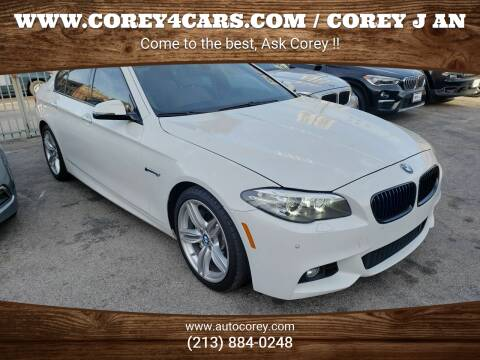 2016 BMW 5 Series for sale at WWW.COREY4CARS.COM / COREY J AN in Los Angeles CA