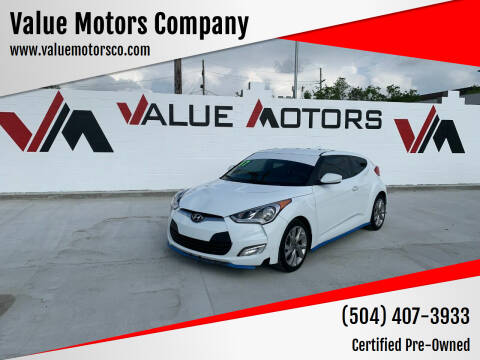 2017 Hyundai Veloster for sale at Value Motors Company in Marrero LA