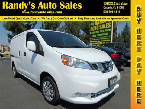 2018 Nissan NV200 for sale at Randy's Auto Sales in Ontario CA