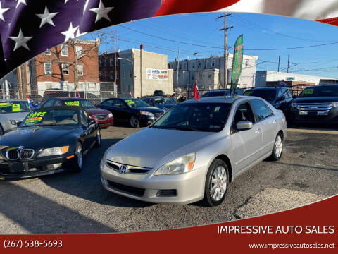 2007 Honda Accord for sale at Impressive Auto Sales in Philadelphia PA