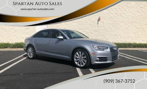 2017 Audi A4 for sale at Spartan Auto Sales in Upland CA