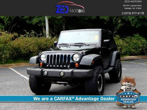 2009 Jeep Wrangler for sale at Zed Motors in Raleigh NC