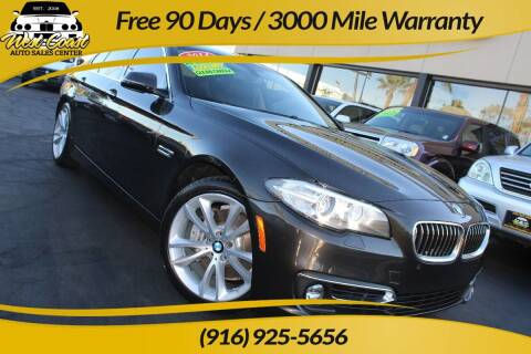 2014 BMW 5 Series for sale at West Coast Auto Sales Center in Sacramento CA