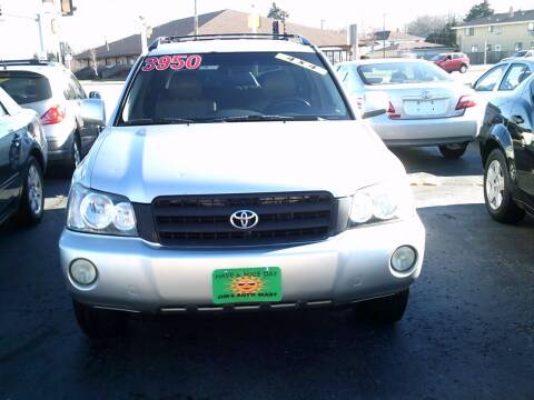 2002 Toyota Highlander for sale at JIMS AUTO MART INC in Milwaukee WI