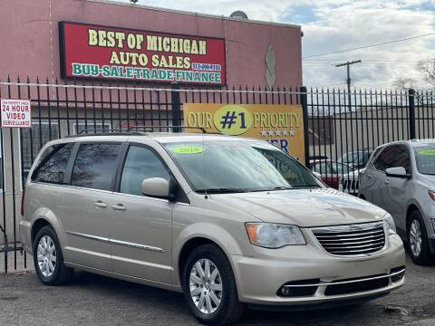 2016 Chrysler Town and Country for sale at Best of Michigan Auto Sales in Detroit MI