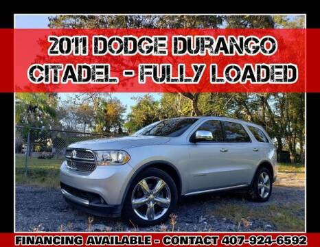2011 Dodge Durango for sale at AFFORDABLE ONE LLC in Orlando FL