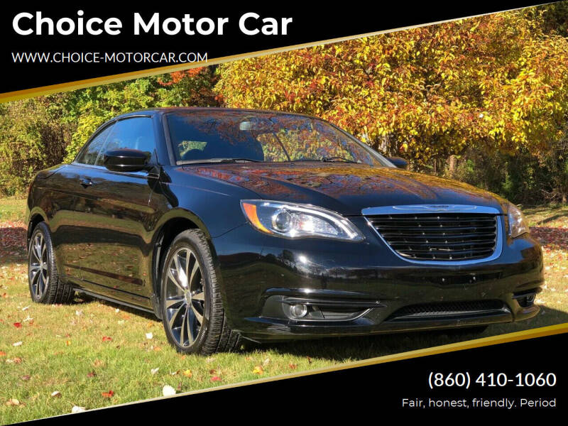 2012 Chrysler 200 Convertible for sale at Choice Motor Car in Plainville CT