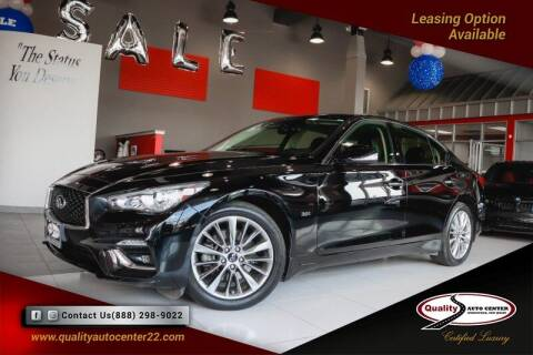 2018 Infiniti Q50 for sale at Quality Auto Center in Springfield NJ