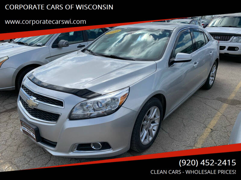 2013 Chevrolet Malibu for sale at CORPORATE CARS OF WISCONSIN in Sheboygan WI