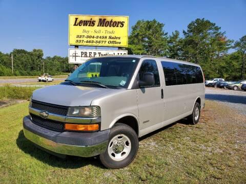 2005 Chevrolet Express Passenger for sale at Lewis Motors LLC in Deridder LA