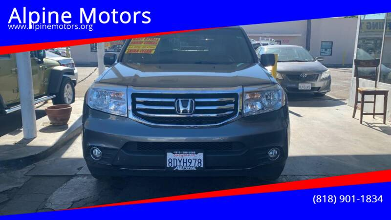 2013 Honda Pilot for sale at Alpine Motors in Van Nuys CA