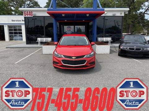 2018 Chevrolet Cruze for sale at 1 Stop Auto in Norfolk VA