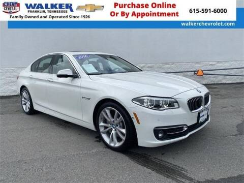 2016 BMW 5 Series for sale at WALKER CHEVROLET in Franklin TN