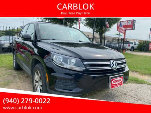 2012 Volkswagen Tiguan for sale at CARBLOK in Lewisville TX