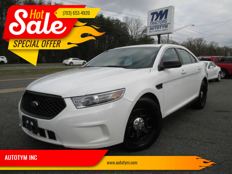 2016 Ford Taurus for sale at AUTOTYM INC in Fredericksburg VA