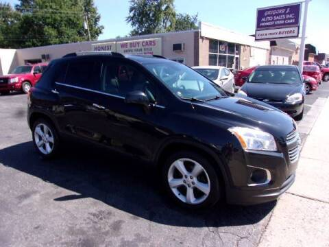 2016 Chevrolet Trax for sale at Gregory J Auto Sales in Roseville MI