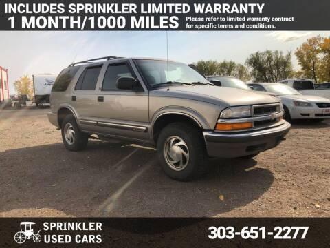 2001 Chevrolet Blazer for sale at Sprinkler Used Cars in Longmont CO