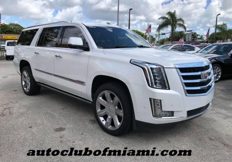 2018 Cadillac Escalade ESV for sale at AUTO CLUB OF MIAMI, INC in Miami FL