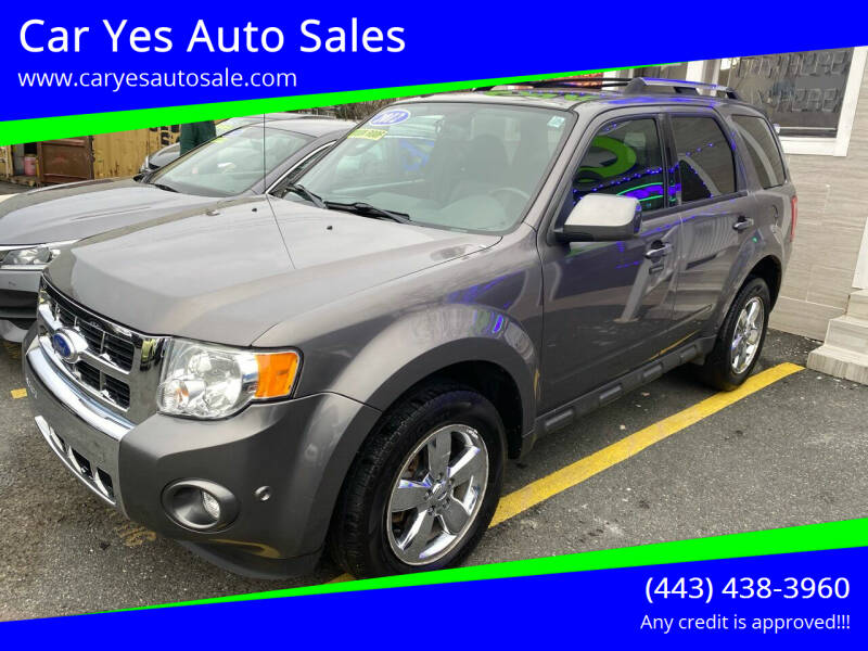2012 Ford Escape for sale at Car Yes Auto Sales in Baltimore MD