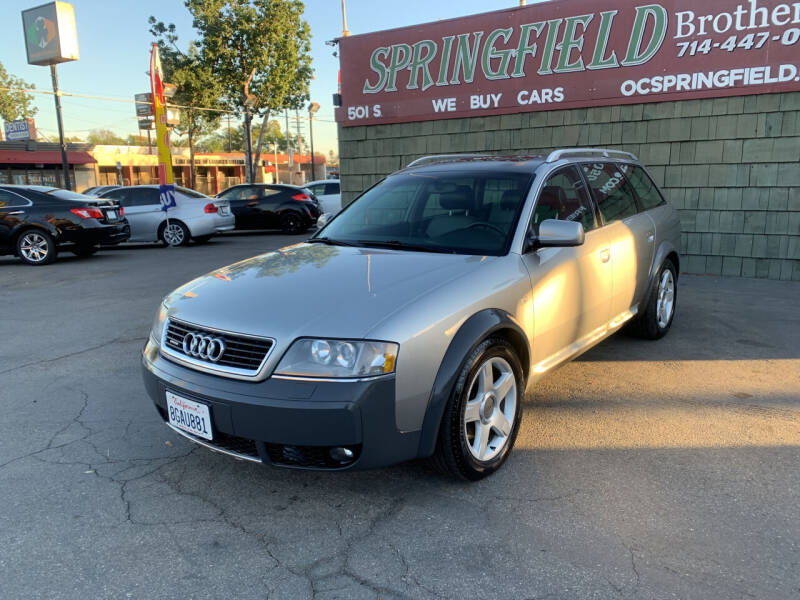 2001 Audi Allroad for sale at SPRINGFIELD BROTHERS LLC in Fullerton CA