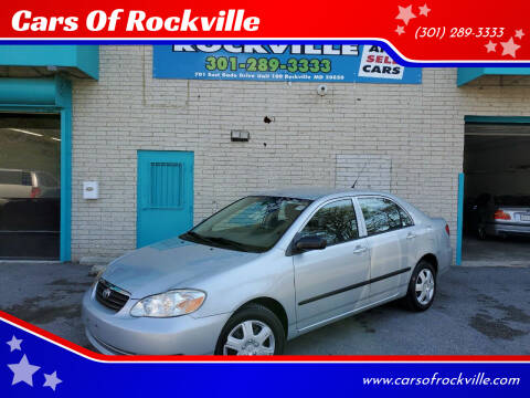 2008 Toyota Corolla for sale at Cars Of Rockville in Rockville MD