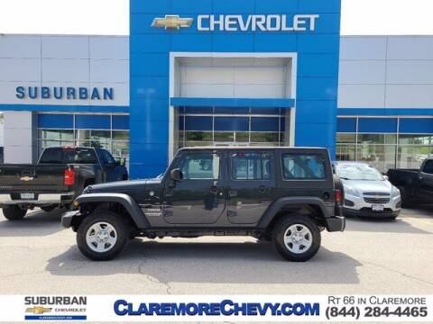2017 Jeep Wrangler Unlimited for sale at Suburban Chevrolet in Claremore OK