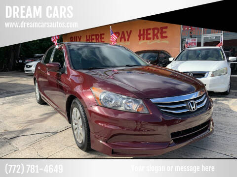 2011 Honda Accord for sale at DREAM CARS in Stuart FL