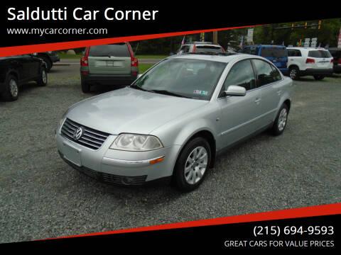 2001 Volkswagen Passat for sale at Saldutti Car Corner in Gilbertsville PA