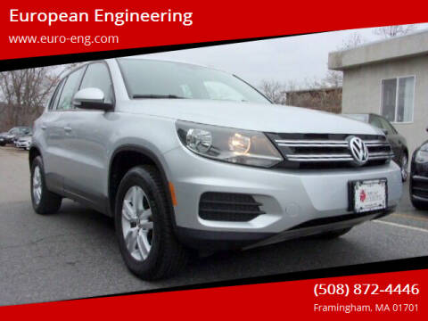 2017 Volkswagen Tiguan for sale at European Engineering in Framingham MA