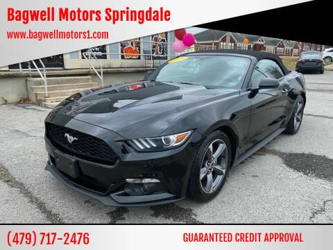 2015 Ford Mustang for sale at Bagwell Motors Springdale in Springdale AR