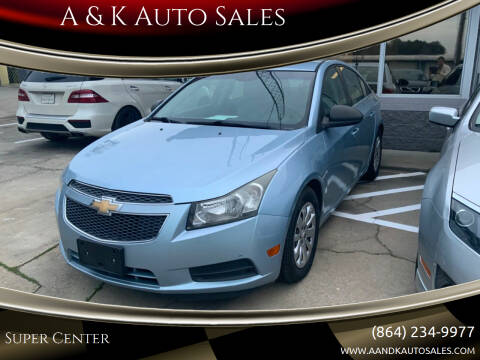 2011 Chevrolet Cruze for sale at A & K Auto Sales in Mauldin SC