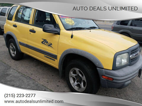 2002 Chevrolet Tracker for sale at AUTO DEALS UNLIMITED in Philadelphia PA