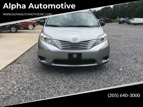 2016 Toyota Sienna for sale at Alpha Automotive in Odenville AL