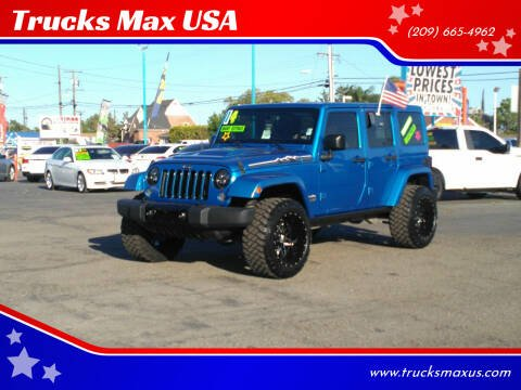 2014 Jeep Wrangler Unlimited for sale at Trucks Max USA in Manteca CA