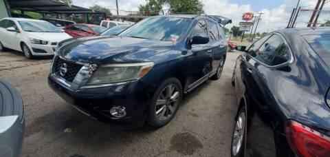 2014 Nissan Pathfinder for sale at C.J. AUTO SALES llc. in San Antonio TX