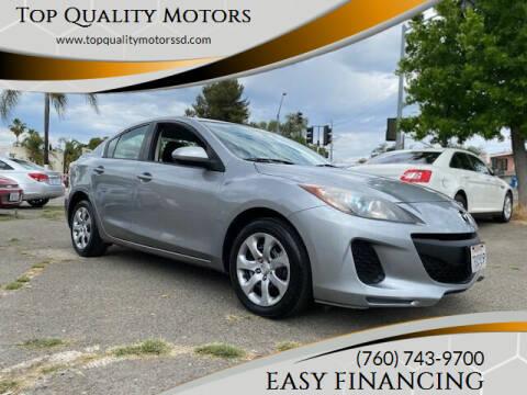 2013 Mazda MAZDA3 for sale at Top Quality Motors in Escondido CA