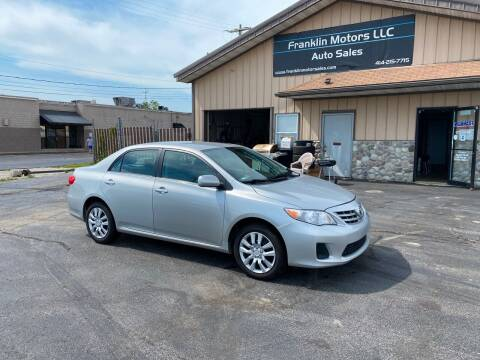 2013 Toyota Corolla for sale at Franklin Motors in Franklin WI