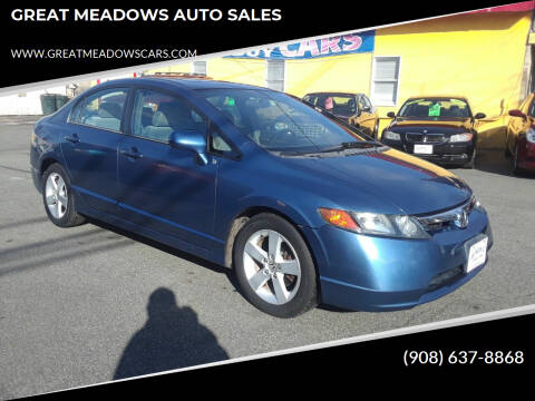 2006 Honda Civic for sale at GREAT MEADOWS AUTO SALES in Great Meadows NJ