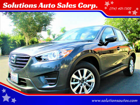 2016 Mazda CX-5 for sale at Solutions Auto Sales Corp. in Orange CA
