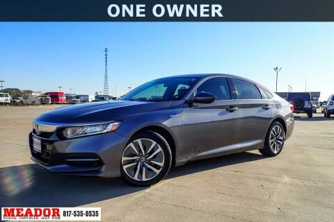 2019 Honda Accord Hybrid for sale at Meador Dodge Chrysler Jeep RAM in Fort Worth TX