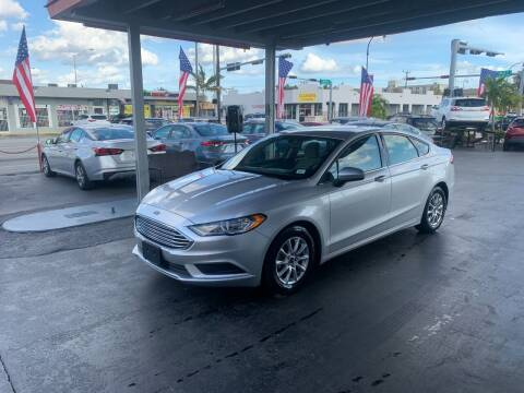 2017 Ford Fusion for sale at American Auto Sales in Hialeah FL