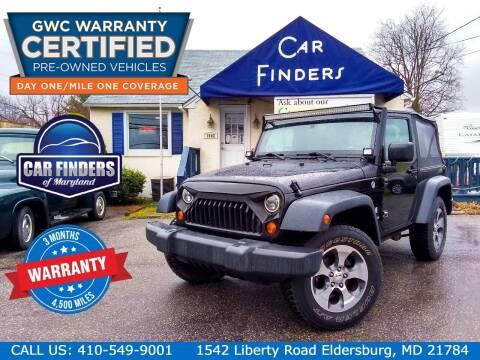 2008 Jeep Wrangler for sale at CAR FINDERS OF MARYLAND LLC - Certified Cars in Eldersburg MD