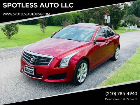 2014 Cadillac ATS for sale at SPOTLESS AUTO LLC in San Antonio TX