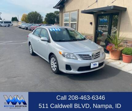 2013 Toyota Corolla for sale at Western Mountain Bus & Auto Sales in Nampa ID