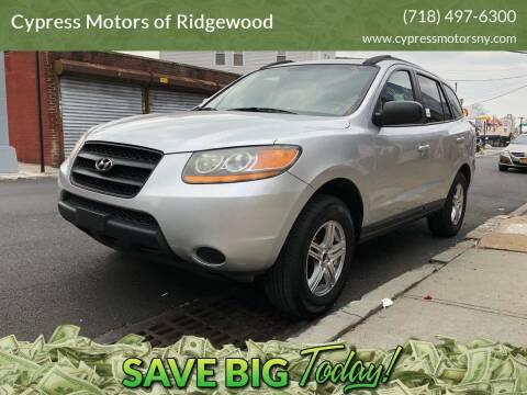 2009 Hyundai Santa Fe for sale at Cypress Motors of Ridgewood in Ridgewood NY