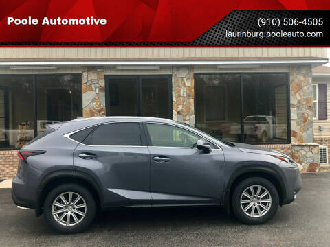 2015 Lexus NX 200t for sale at Poole Automotive in Laurinburg NC
