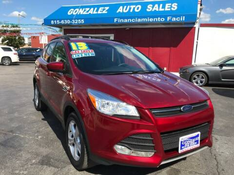 2013 Ford Escape for sale at Gonzalez Auto Sales in Joliet IL