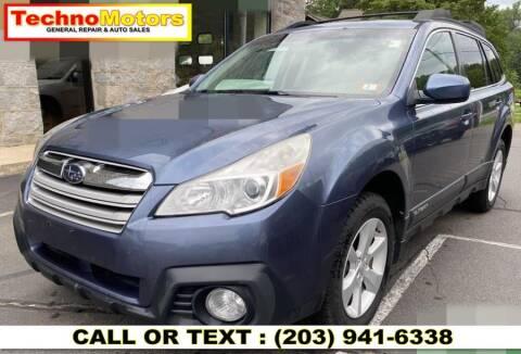 2013 Subaru Outback for sale at Techno Motors in Danbury CT