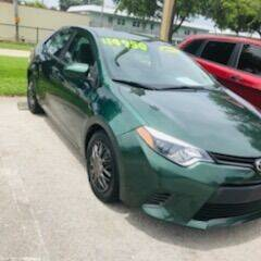 2015 Toyota Corolla for sale at DAN'S DEALS ON WHEELS AUTO SALES, INC. in Davie FL