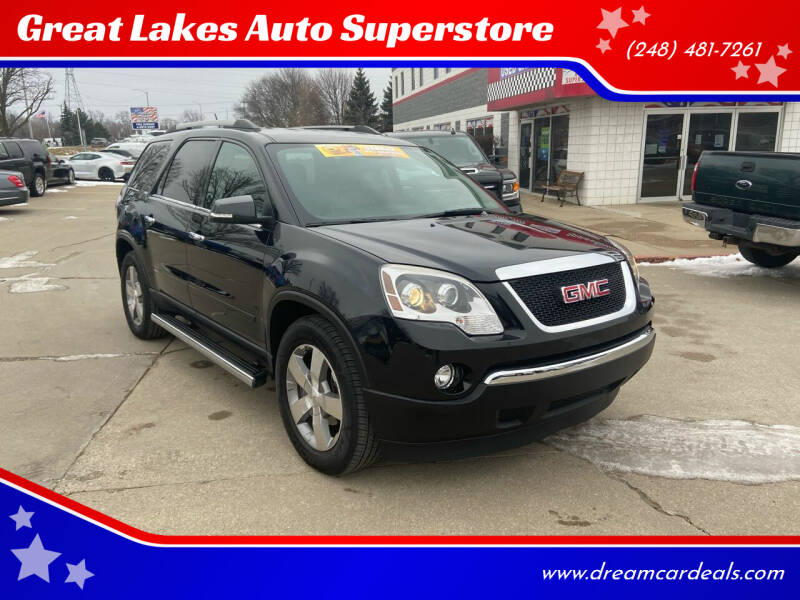 2012 GMC Acadia for sale at Great Lakes Auto Superstore in Pontiac MI